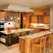 St. Thomas Rustic Cherry natural with sable rustic cherry island